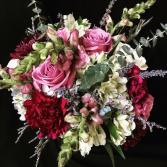 Burgundy-n- Blush Bouquet Bridal Bouquet