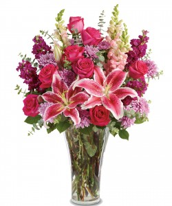 BOLD AND BEAUTIFUL Vase Arrangement in Longview, TX | ANN'S PETALS