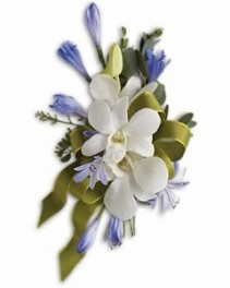 Bold and Blue Pin-On Corsage Mother's Day Corsage