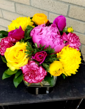 bold and bright cube arrangement