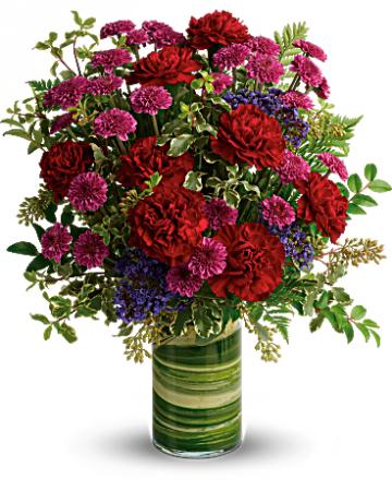 Bold and Vibrant Love Cylinder Vase