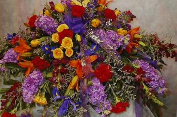 Bold & Beautiful casket spray