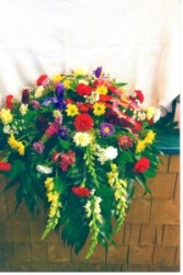 Bold Colors Casket Spray s145
