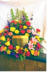 Bold Colors Urn Wreath s300