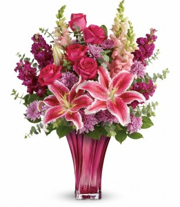 Bold Elegance Premium Vase Arrangement in Warrington, PA | ANGEL ROSE FLORIST INC.