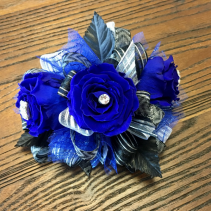 Bold In Blue  Forever Rose Wrist Corsage