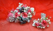 Bold Pink Corsage-2E & 2F