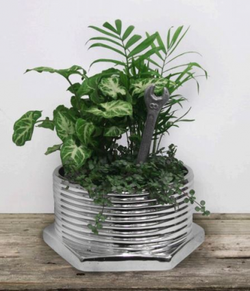 Bolts and Nuts Ceramic planter for the manly man!