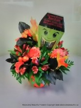 Boo Dracula Treats Halloween Flowers and Candy