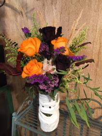 Booootiful Orange & Black Roses