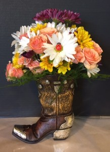 Boot in Bloom   in Fowlerville, MI | ALETA'S FLOWER SHOP