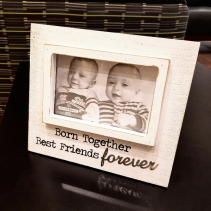 Born Together Twins Frame Baby