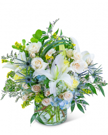 Bossa Nova Blues Flower Arrangement