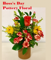 Boss's Day Pottery Floral Autumn Design