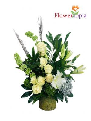 Botanical Beauty Bouquet Sympathy Arrangement in Miami, FL | FLOWERTOPIA