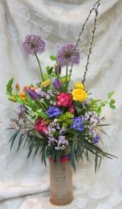 Botanical Burlap Wrap Everyday Floral