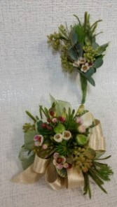 Botanical Corsage and Boutonniere