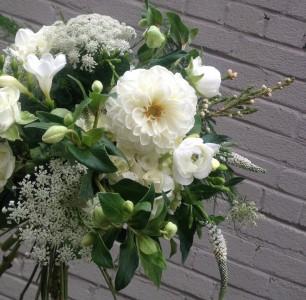 Botany Boho Monochromatic Handtied Bouquet