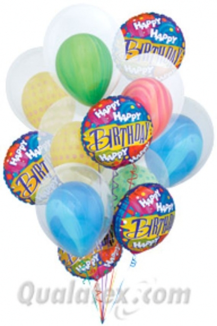 Double The Birthday Balloons Bouquet