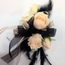 Boujee Black & Champagne Wrist Corsage