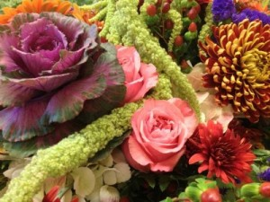 Bountiful Basket or glass cube  arrangement in Northport, NY | Hengstenberg's Florist
