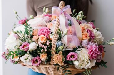Bountiful Basket Floral Arrangement
