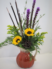 BOUNTIFUL BLESSINGS PITCHER FRESH FLOWERS VASED