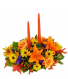 Bountiful Blessings  Double Candle Centerpiece