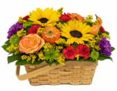 Bountiful Blooms Basket Arrangement