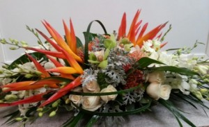 Bountiful Blooms Tropical Centerpiece  in Fort Lauderdale, FL | ENCHANTMENT FLORIST