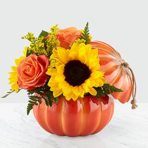 Harvest Traditions Pumpkin Floral Arrangement