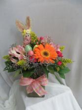 Bountiful Bunnies Fresh Easter Vased Arrangement