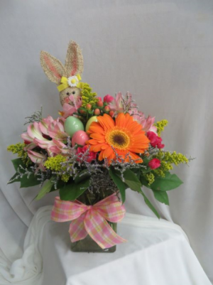 Bountiful Bunnies Fresh Easter Vased Arrangement in Farmville, VA | CARTERS FLOWER SHOP