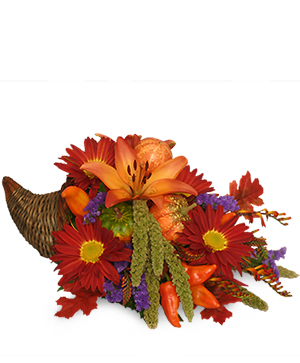 Bountiful Cornucopia Thanksgiving Bouquet in Plainview, TX | Kan Del's Floral, Candles & Gifts