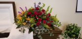 Bountiful Garden  Casket Spray