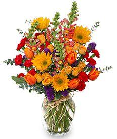 Bountiful Pleasures Vase Arrangement