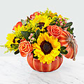 Bountiful Pumpkin Ceramic Arrangement