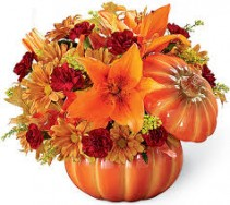 Bountiful Bouquet Pumpkin Keepsake