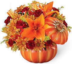Bountiful Bouquet Pumpkin Keepsake in Cambridge, ON | MY FLOWER SHOP