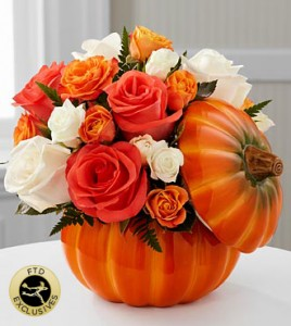 Bountiful™ Rose Bouquet Fall Arrangement in Burbank, CA | MY BELLA FLOWER