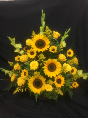 Bountiful Sun Accent Sympathy Arrangement in Red Lake, ON | FOREVER GREEN GIFT BOUTIQUE