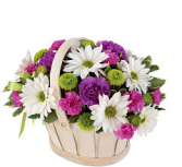 Blooming Bounty Bouquet  Basket arrangement