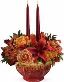 Bounty of Beauty Centerpiece Candle Centerpiece