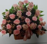 bouquet en cesta # 11 rosas
