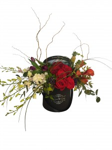 Bouquet Florist (Mixed Flowers) Black Flower Box