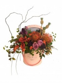 Bouquet Florist (Mixed Flowers) Pink Flower Box