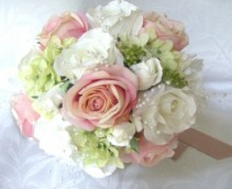Bouquet for a Bride or Bridesmade  Very soft and elegant , can be made larger or smaller...price will vary due to size