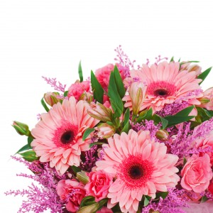 Bouquet Gerbera  Hand-tie Bouquet in Brentwood Bay, BC | PETALS N BUDS BRENTWOOD BAY FLORIST