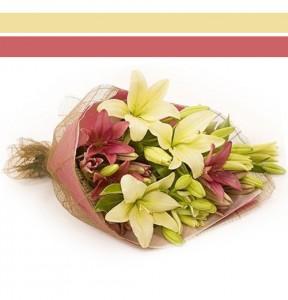 Bouquet Lilies Hand-tie Bouquet