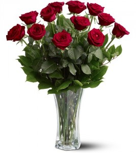 Bouquet of Roses Vase in Walpole, MA | VILLAGE ARTS & FLOWERS